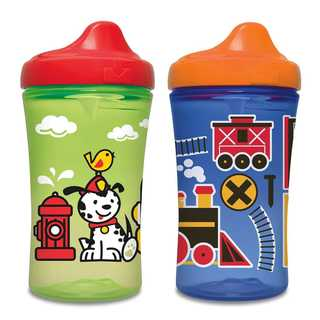 NUK Gerber Graduates Green/Blue Plastic Advance Developmental Hard-spout Sippy Cups (Pack of 2)