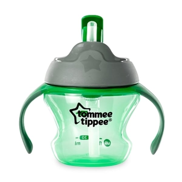 Tommee Tippee Green Plastic 5-ounce First Straw Transition Cup