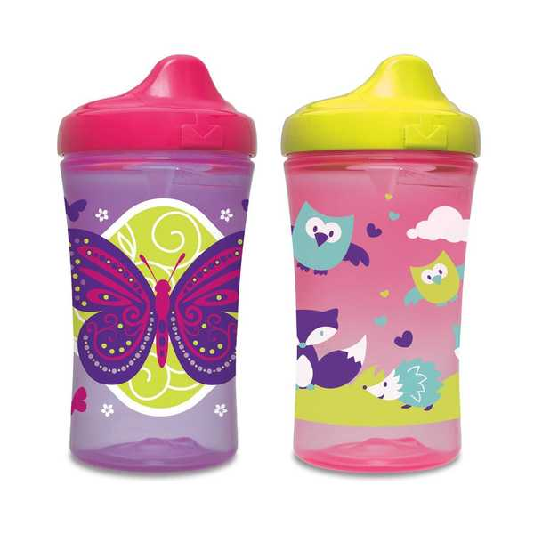 NUK Gerber Graduates Advance Development Pink/PurplePlastic Hard-spout Cup (Set of 2) 18916936