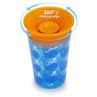Munchkin Miracle Cup Blue Plastic 9-ounce Whale Deco Sippy Cup