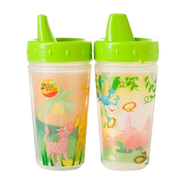 Evenflo Zoo Friends Plastic 10-ounce Insulated Sippy Cups (Pack of 2) 18916952