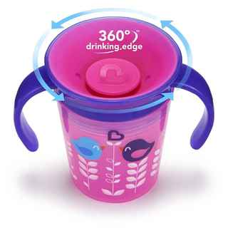 Munchkin Miracle Cup Pink Bird 6-ounce Trainer Cup