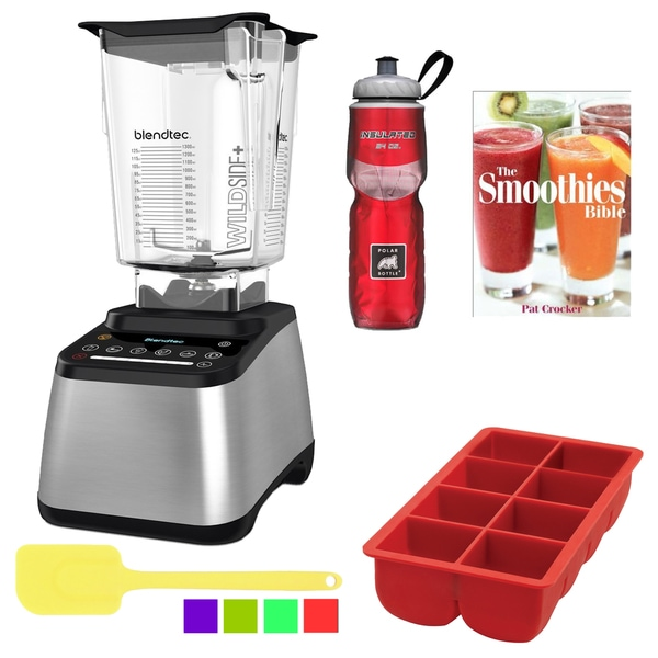 Blendtec WildSide Designer 725 Blender Bundle (Stainless Steel on Black)
