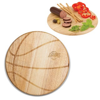 Picnic Time Los Angeles Lakers Free Throw Wood Cutting Board