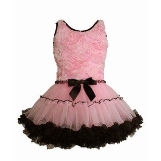 Popatu Girl's Pink Ruffle Petti Dress