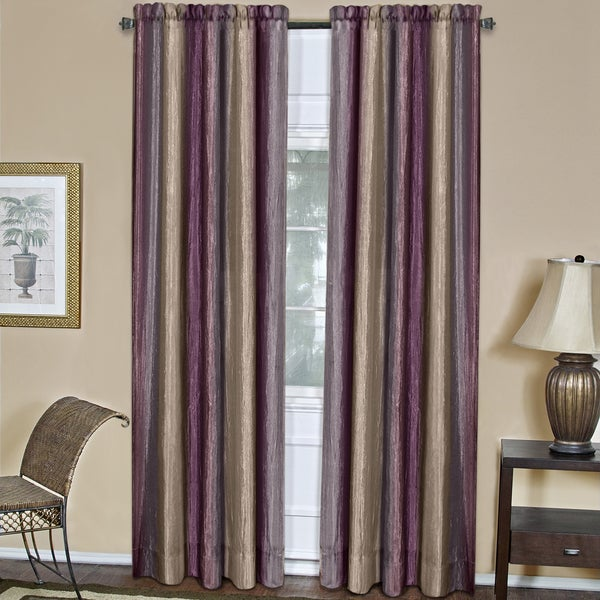 ACHIM Ombre Aubergine Curtain Panel