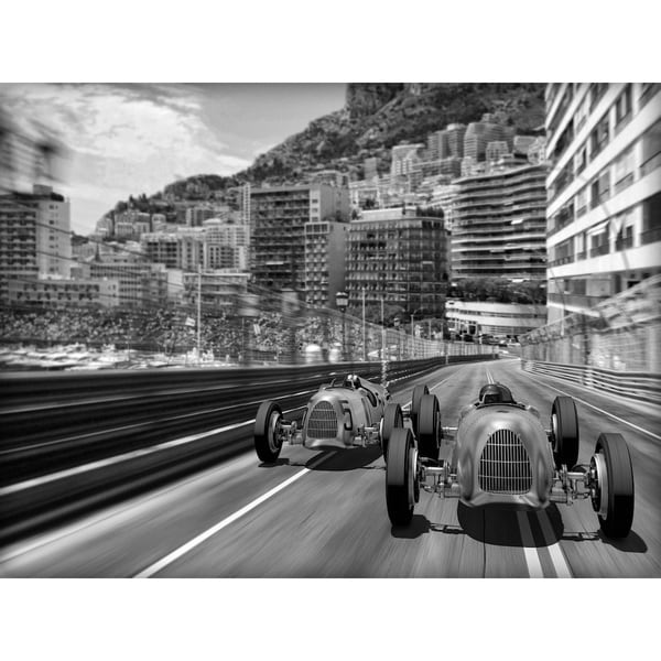 Benjamin Parker 'Memories of Monte Carlo' 40-inch Canvas Wall Art
