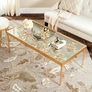 Safavieh Rosalia Antique Gold Leaf Coffee Table