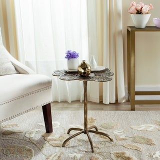 Safavieh Alene Antique Brass Side Table