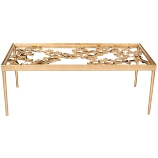 Safavieh Otto Antique Gold Leaf Coffee Table