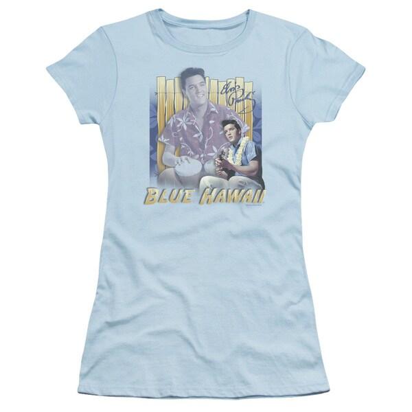 Elvis/Blue Hawaii Junior Sheer in Light Blue