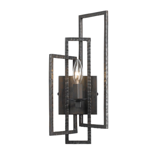 Crystorama Capri Collection Raw Steel 1-light Wall Sconce 18917962