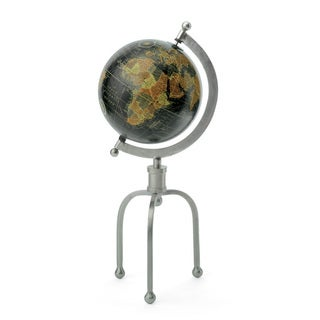 Hip Vintage Multicolor Iron/Wood Industrial 3-leg Stand Globe