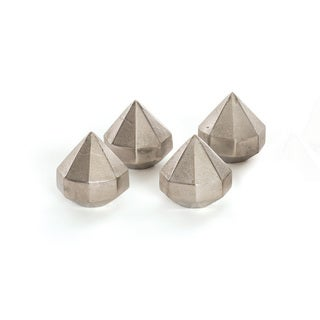 Hip Vintage Silver Nickel Diamond Paperweights (Pack of 4)