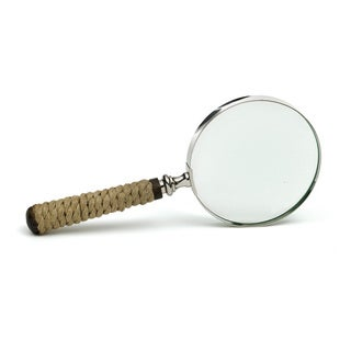 Hip Vintage Clear Nickel Yachting Magnifying Glass