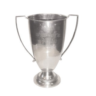 Hip Vintage Silver Nickel Etched Loving Cup
