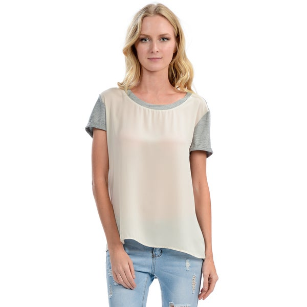 Women's Ivory and Grey Shirt