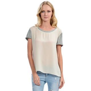 Women's Ivory and Grey Shirt
