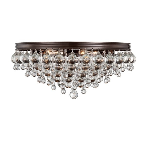 Crystorama Calypso Collection Vibrant Bronze Six-light Flush-mount Chandelier 18918307