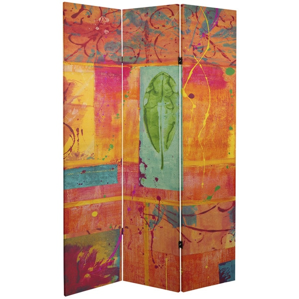 Double Sided Tangerine Dream 6-foot Tall Canvas Room Divider