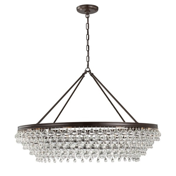Crystorama Calypso Collection Bronze 8-light Chandelier 18918440
