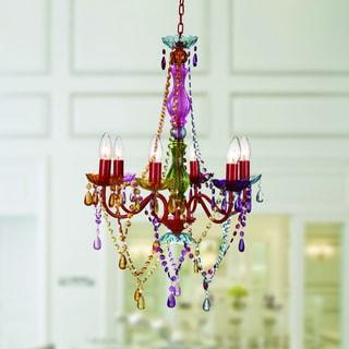 Eliosha 6-light Multi-colored 46-inch Acrylic Chandelier