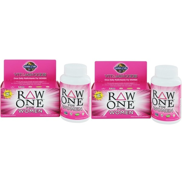 Garden of Life Vitamin Code Raw One Women's Multivitamin (75 Vegetarian Capsules)