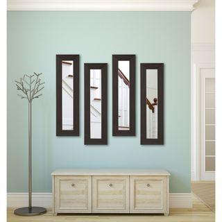 American Made Rayne Black Walnut Panel Mirrors
