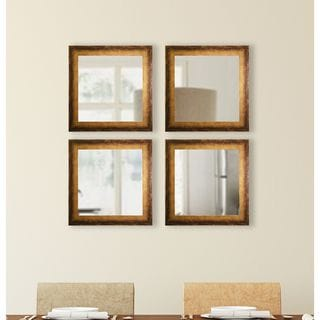 American Made Rayne Tarnished Bronze Square Mirror Sets