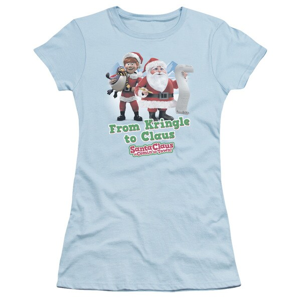 Santa Claus Is Comin To Town/Kringle To Claus Junior Sheer in Light Blue