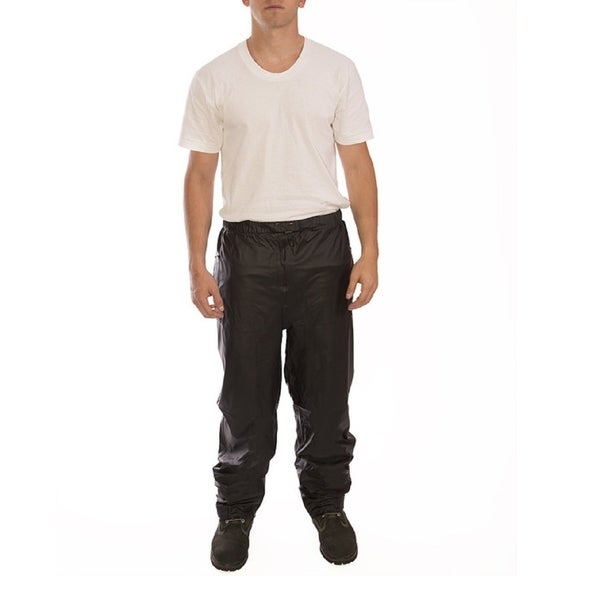 The Waist Tingley Black Polyurethane Waterproof Adjustable Sport Rain Pants