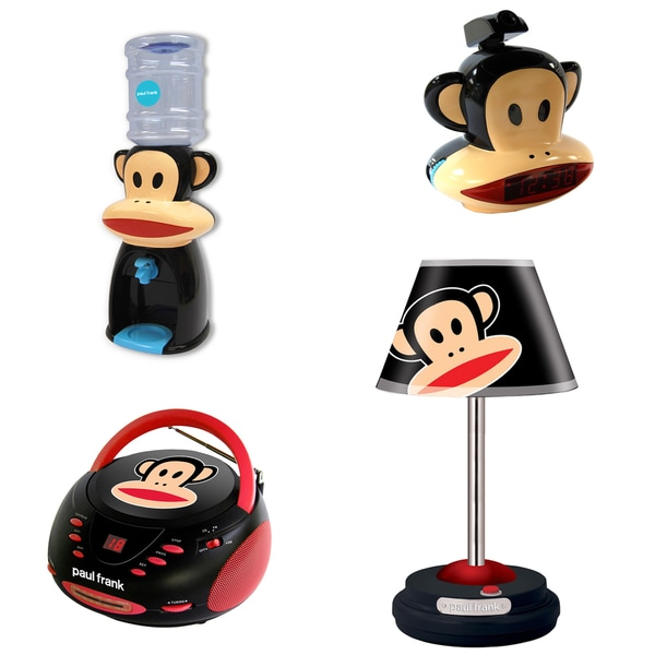 Paul Frank Table Lamp, CD Boombox, Projection Clock Radio and Water Dispenser Bundle