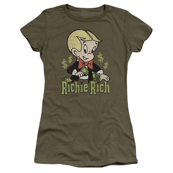 Richie Rich/Rich Logo Junior Sheer in Military Green