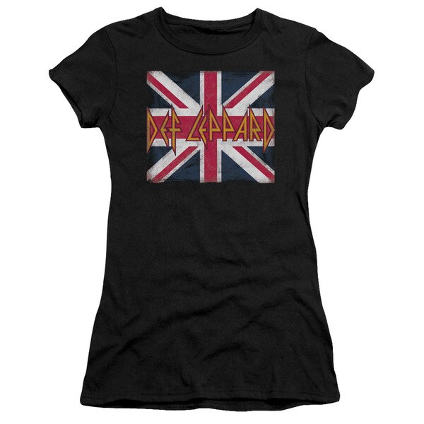 Def Leppard/Union Jack Junior Sheer in Black