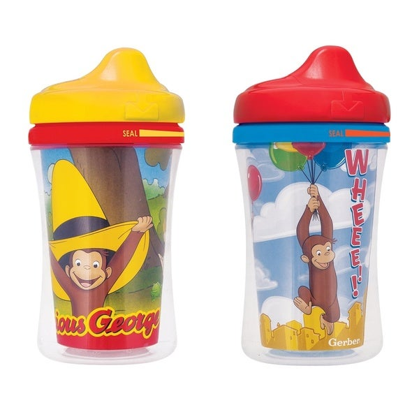 Nuk Gerber Graduates Plastic 9-ounces Curious George Hard Spout Sippy Cups (Set of 2) 18920608