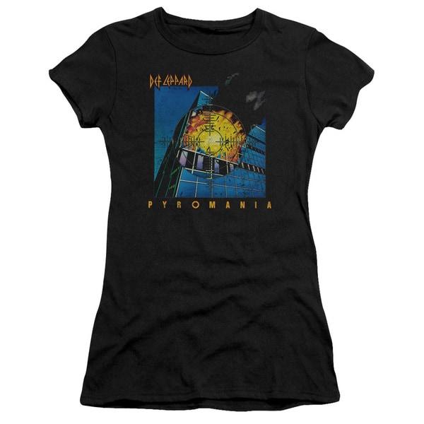Def Leppard/Pyromania Junior Sheer in Black