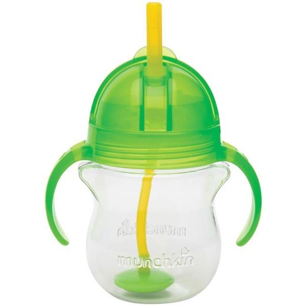 Munchkin Click Lock Green Plastic 7-ounce Weighted Flexi-straw Cup