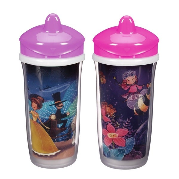 Playtex Purple Princess/Pink Fairy 9-ounce Insulator Cup (Pack of 2) 18920642