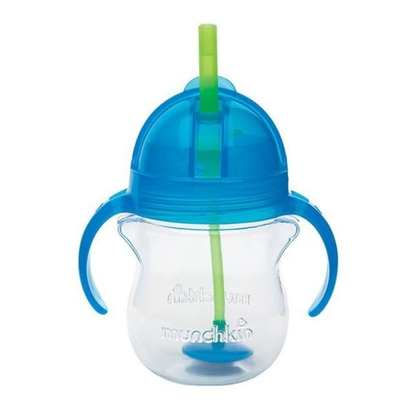 Munchkin Click Lock Blue 7-ounce Weighted Flexi-Straw Cup 18920684