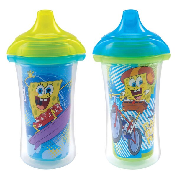 Munchkin SpongeBob Multicolored 9-ounce Sippy Cups (Set of 2) 18920717