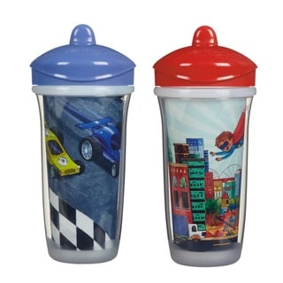Playtex Insulator Blue Cars/Red Hero 2-piece 9-ounce Cup Set