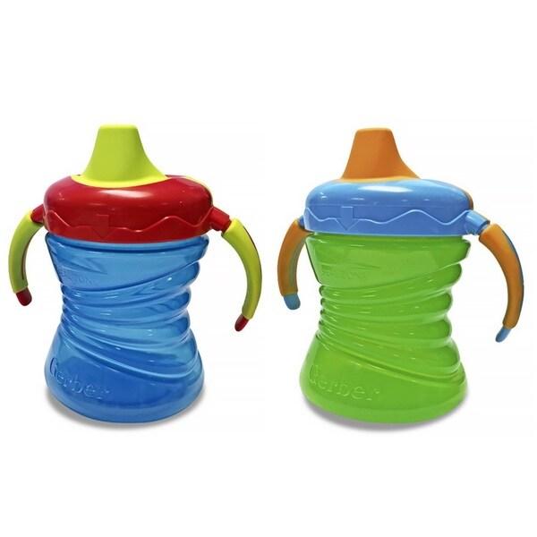 Nuk Gerber Graduates Blue/Green Plastic 7-ounce Fun Grips Trainer Cups (Set of 2) 18920775