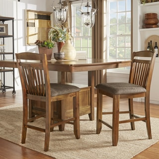 Tribecca Home Charlotte Faux Leather Counter Height Chairs
