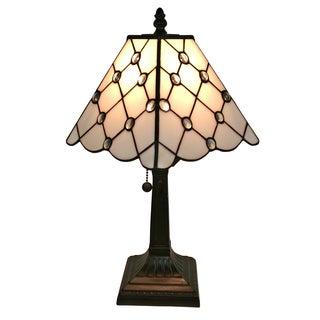 Amora Lighting Multicolored Art Glass Tiffany-style Mission Table Lamp