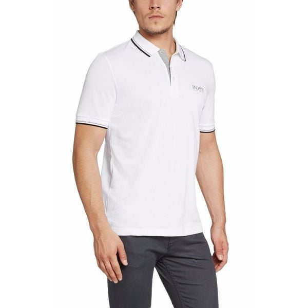 Hugo Boss Men's Paddy Pro White Cotton/Polyester Polo T-shirt