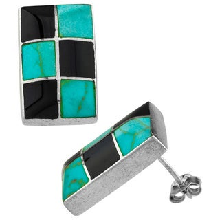 Haven Park Contemporary Onyx & Turquoise Earrings