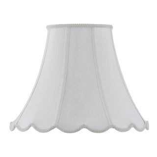 Bombay Vertical Piped Scallop Bell Shade - White