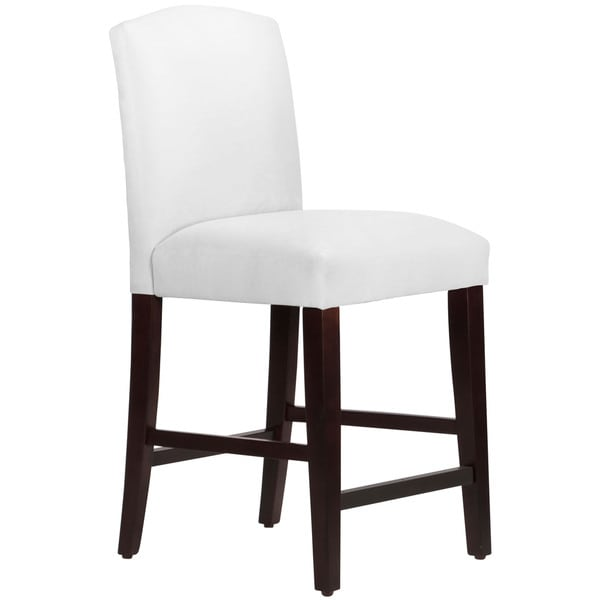 Skyline Furniture Espresso White Velvet Polyurethane