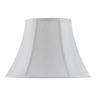 Bombay Vertical Piped Basic Bell Shade - White