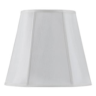 Bombay Vertical Piped Deep Empire Shade - White